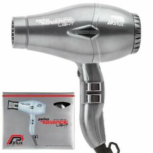 Parlux Advance Light Professional ionic hair dryer 2 nozzles 3 m. Cable Silver