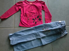 ensemble fille ~~  4 ans  ***CATIMINI / MARESE*** T-shirt + jean