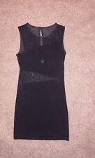 Miss Selfridge Little black dress 8 10 mesh cut out short Night Out Keegan Party