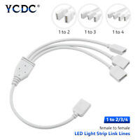 3528/5050 RGB LED Strip Female Connector Power Supply Cable Splitters 2/3/4 Way
