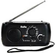Kaito KA331 Hand Crank AM/FM NOAA Weather Radio w/ Cell Phone Charger 3 LED Lite