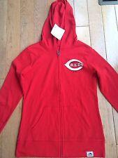 NWT Cincinnati Reds Majestic Hoddie/ Womens Red size M