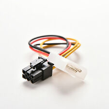 4 Pin Molex Male to 6 Pin PCI- Express PCIE Female Power Adapter Cable Cord  B&H