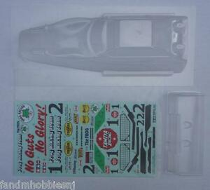 NEW TAMIYA FROG PART CLEAR BODY WITH DECALS & WING 1/10 SCALE