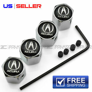 ANTI THEFT VALVE STEM CAPS WHEEL TIRE FOR ACURA VA02 - US SELLER