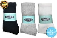 3, 6, 12 Pairs of Crew Socks for Diabetics Loose Fit Top Circulatory All Sizes