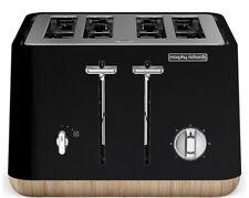 New Morphy Richards - 240007 - Scandi Black Aspect 4 Slice Toaster