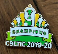 CELTIC CHAMPIONS 9 IN A ROW 2020 SOUVENIR HARD ENAMEL PIN BADGE - IN STOCK