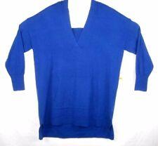 Cc California Womens Plus Size Sweater Hoodie 1X Blue 3/4 Sleeve Lightweight