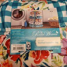 Pioneer Woman Petal Party Ruffled Laundry Bag