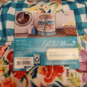 Pioneer Woman Petal Party Ruffled Laundry Bag