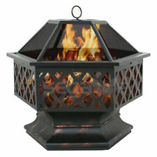 New listing Hex Shaped Patio Fire Pit Outdoor Home Garden Backyard Firepit Bowl Fireplace