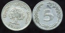 TUNISIE  5 millim  1960  ( bis )