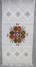Ukrainian Embroidered Easter Basket Cover,Rushnyk,Towel, Pysanky Eggs,Wreath 27""