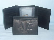 TEXAS A&M AGGIES    Leather TriFold Wallet    NEW    black 3 sb