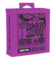 **3 PACK ERNIE BALL 2220 POWER SLINKY NICKEL ELECTRIC GUITAR STRINGS 11-48**