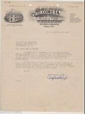 VINTAGE ILLUSTRATED COMMERCIAL LETTER / EL COMETA / PONCE PUERTO RICO / 1941 #2