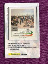 2011 TESSERA FILATELICA MEI MUSEO NAZIONALE EMIGRAZIONE ITALIANA RARISSIMO