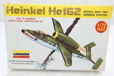 Lindberg 1/72 Heinkel Hel62 German Jet Fighter Model Kit 1119 1975  Sealed!