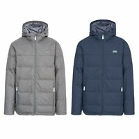 Trespass Sadler Mens Winter Down Jacket Hooded Warm Padded Coat