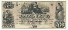 Louisiana Canal Bank $50 18XX G48a Ships Maid Anchor Scale Christmas Red # D2