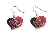 Arizona CARDINALS Swirl Heart Dangle Earrings