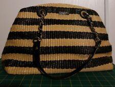 KATE SPADE STRAW  Handbag  nat/black.