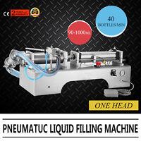 Single Heads Pneumatic Liquid Filling Machine 90-1000ML Milk Paste Control