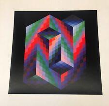 """RARE! Victor Vasarely (1908-1997) """"VAAR"""" Original heliogravure on paper"""