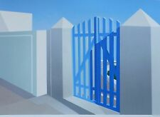 "ELENA BORSTEIN ""Blue Gate"" Greece HAND SIGNED NUMBERED ORIG. SERIGRAPH US ARTIST"