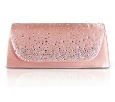 New Jacki Design Evening Beaded Clutch Purse PINK Blush Prom Ball Wedding gift