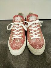 Converse Red Holographic Low Top Sneakers US Womens 8