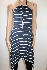 SWIMSUITS FOR ALL Navy White Stripe Keyhole Coverup Dress Size 10/12 BNWT #TU01