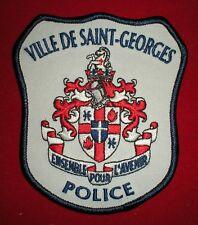 PATCH POLICE CANADIENNE - VILLE DE SAINT GEORGES
