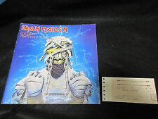 Iron Maiden 1985 Japan Tour Book with Ticket Stub Concert Program World Slavery