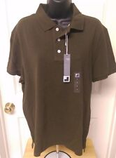 JC Penny NWT Men's Olive Green Polo Shirt Size L