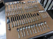 Gorham Melrose Pattern 67 pcs Sterling Silver Flatware Service for 10