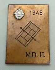 Tennis Federation of Yugoslavia, coat of arms, vintage plaque, medal 1946. Rarre