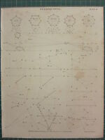 1813 DATED ANTIQUE PRINT ~ PERSPECTIVE DIAGRAMS EXAMPLES