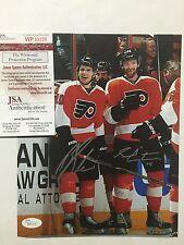 Autographed/Signed BRAYDEN SCHENN & SEAN COUTURIER 8x10 Hockey Photo JSA COA