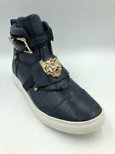 Faranzi Mens Navy High Top Golden Lion Ankle Boot Sneaker Stylish Shoes Size 9.5