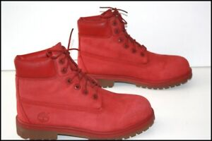 Timberland Boots Booties Red Leather Dark T 5.5 UK/6 US/39 Be