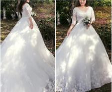 Plus size White/ivory Wedding dress Bridal Gown custom size 16-8-20-22-24-26-28+