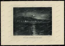 Druck-Stahlstich-Engraving-John Ruskin-Moonlight-Venice-Lagoon-Allen & Co-30