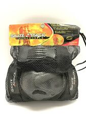 Skate Attack Knee Pad Wrist Guard Set~Retro 90's Gretzky Fav- New w/Bag-Large