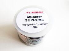 50g 8,5m MUNDORF MSolder SUPREME SILVER ORO DISSALDATORE stagno Solder argento DISSALDATORE stagno