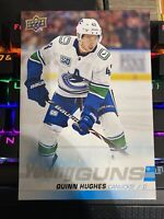 2019-20 Upper Deck QUINN HUGHES Young Guns RC #249 JUMBO CARD