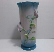 "Vintage Japanese Porcelain Vase MORNING GLORY 7"" TRICO Nagota Japan"