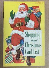 Christmas Card List Shopping 1959 Usa 1950's Mid Century Santa Claus Toys ad