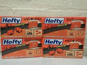 """4 ~Hefty One Zip (Zip Lock) Storage Halloween bags 30 Ea. Quart Size 7"""" x 8 in."""